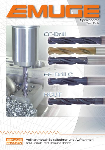 EMUGE Solid Carbide Twist Drills and Holders