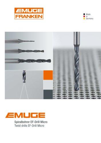 EMUGE Twist drills EF-Drill Micro