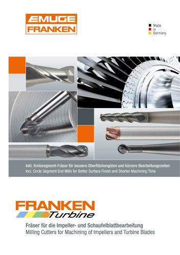FRANKEN Milling Cutters for Impellers and Turbine Blades