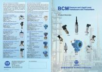 BCM Pressure and Liquid Level Transducers and Transmitters