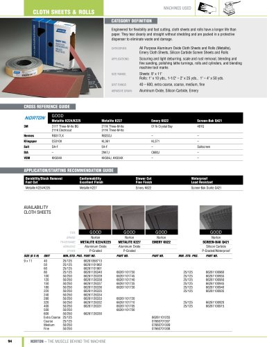 Catalog - Sheets and Rolls - Cloth