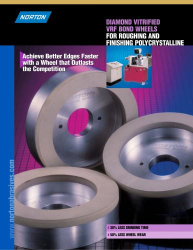 Diamond Vitrified VRF Bond Wheels