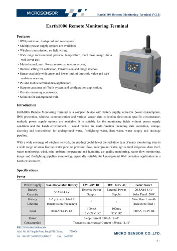 Earth1006 Remote Monitoring Terminal
