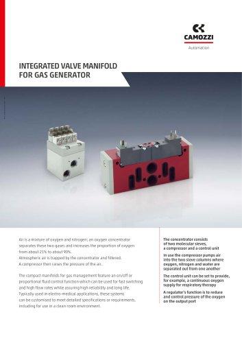 Integrated valve manifold for gas generator EN
