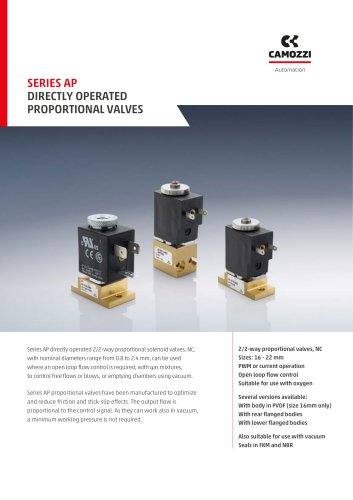 Series AP - Directly operated proportional valves EN