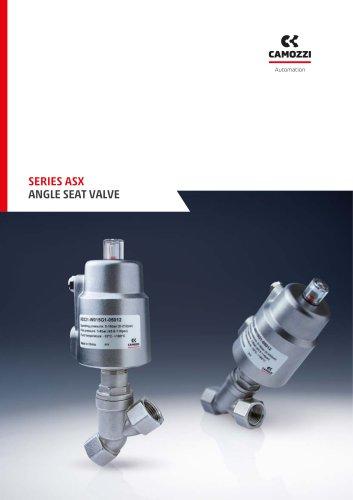 Series ASX - Angle seat valves EN