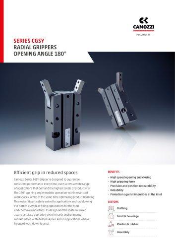 Series CGSY Radial Grippers Opening Angle 180° EN