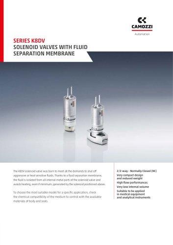 Series K8DV Solenoid valves with fluid separation membrane EN