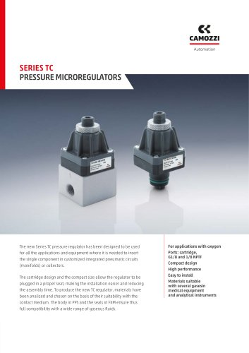 Series TC Pressure Microregulators EN