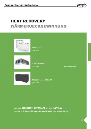 Heat recovery_technical catalogue