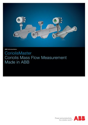 CoriolisMaster - Coriolis Mass Flow Measurement in ABB