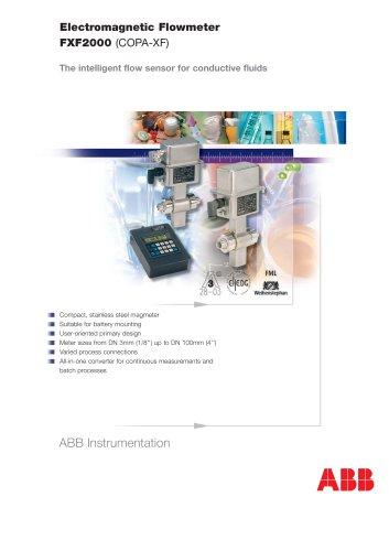 FXF2000 (COPA-XF) - The intelligent flow sensor for conductive fluids