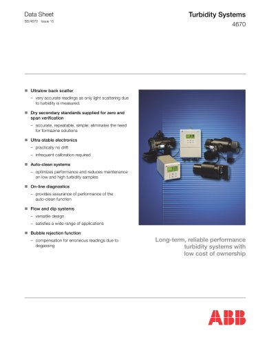 Turbidity Systems 4670 Series