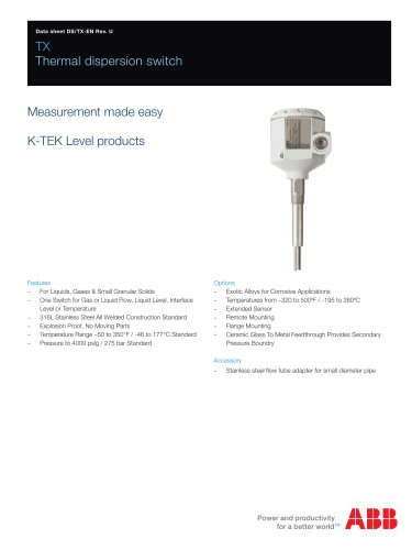 TX - Thermal dispersion switch