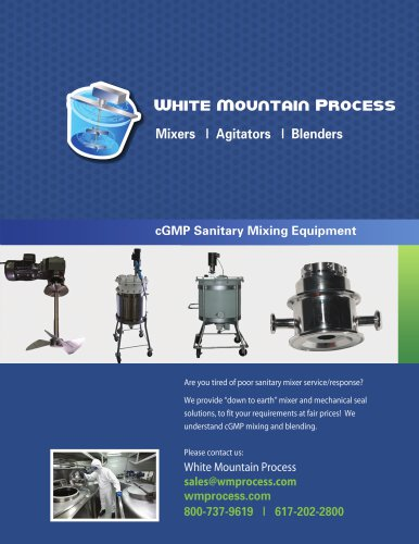 WMP cGMP Sanitary Mixer Brochure