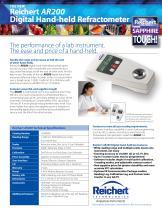 AR200 Automatic Digital Refractometer brochure