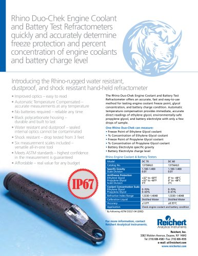 Engine Coolant/Antifreeze and Battery Tester