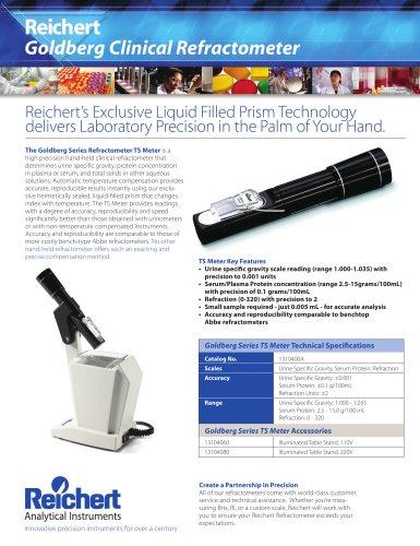 Goldberg TS Meter Clinical Refractometer Brochure