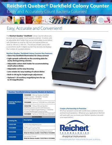 Quebec® Darkfield Digital Colony Counter Brochure