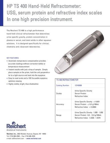 Reichert HP TS 400 Brochure