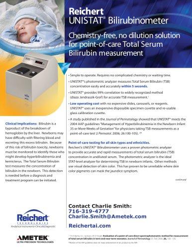 UNISTAT® Bilirubinometer Brochure