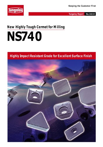 New Highly Tough Cermet for Milling   NS740