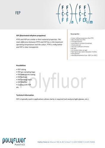 Datasheet material: FEP