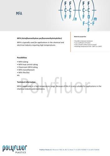 Datasheet material: MFA