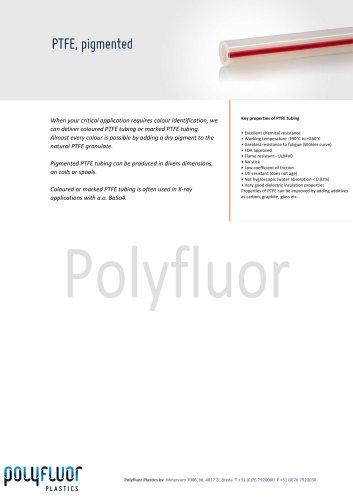 PTFE tubing pigmented