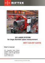 3D Laser system for large diameter pipes measurement