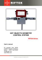Hot Objects Geometry Control System. RF038 Series, Manual