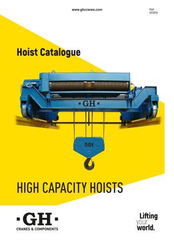 High capacity hoists