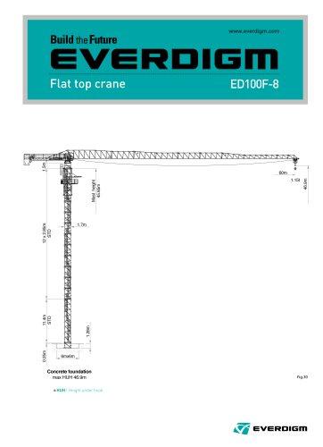 Flat Top Crane ED100F-8