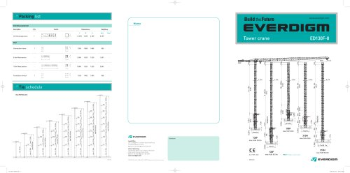Tower Crane ED130F-8 Catalogue