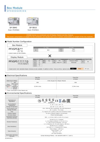 Box Module SP 5000 SERIES