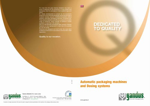 AUTOMATIC PACKAGING MACHINES CATALOGUE