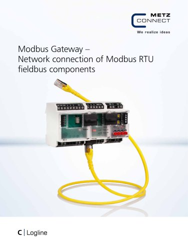 C|Logline - Modbus Gateway – Network connection of Modbus RTU fieldbus components
