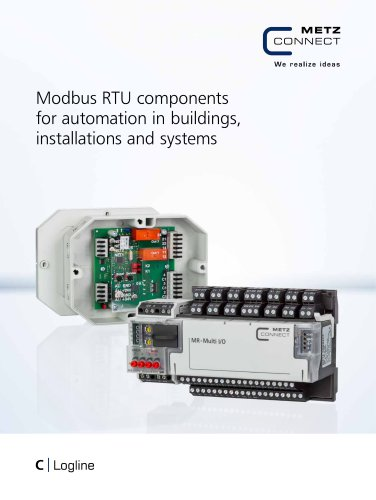 C Logline - Modbus RTU components for automation in buildings, installations and systems