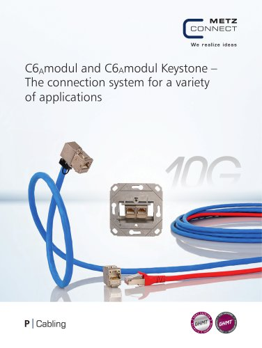 P Cabling - C6Amodul and C6Amodul Keystone – The connection system for a variety of applications