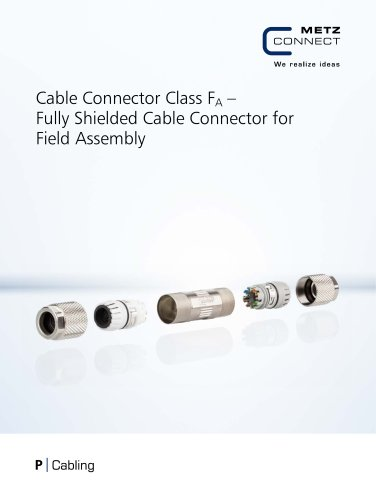 P Cabling - Cable Connector Class FA – Fully Shielded Cable Connector for Field Assembly