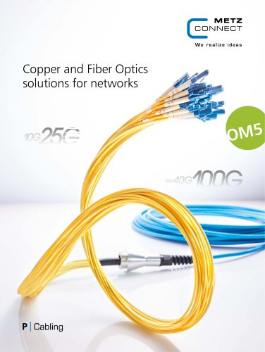 P Cabling - Copper and Fiber Optics solutions for networks