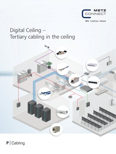 P|Cabling - Digital Ceiling - Tertiary cabling in the ceiling