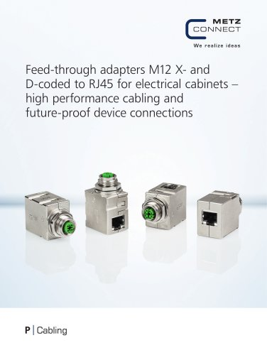 P|Cabling - Feed-through adapters M12 X-coded to RJ45 for electrical cabinets