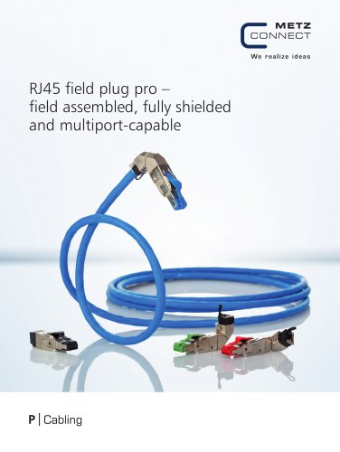 P|Cabling - RJ45 field plug pro