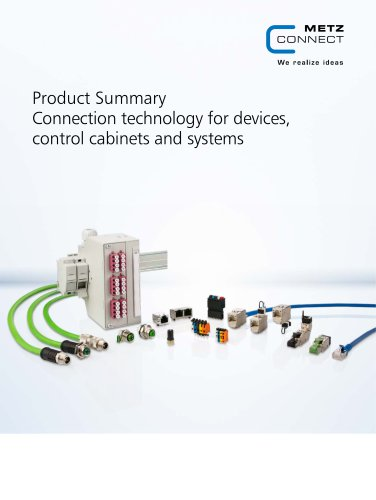 Product Summary Connection technology for devices, control cabinets and systems