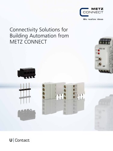 U Contact - Connectivity Solutions for Building Automation from METZ CONNECT