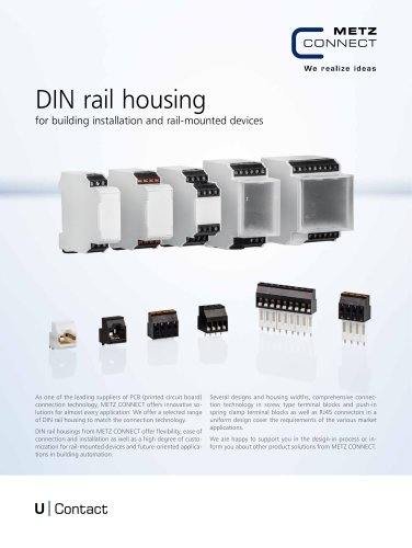 U|Contact - DIN rail housing for building installation and rail-mounted devices