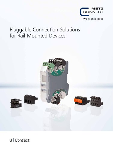 U Contact - Pluggable Connection Solutions for Rail-Mounted Devices
