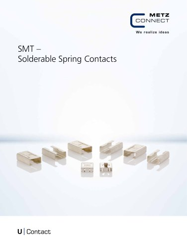 U|Contact - SMT – Solderable Spring Contacts
