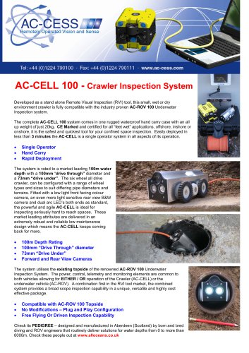 AC-CELL 100 - Crawler Inspection System